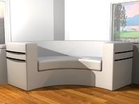 white sofa 3d max