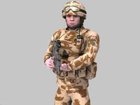 3d max rigged british royal marine
