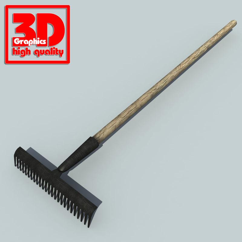 garden rake 3d max