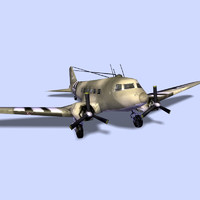 DOUGLAS_C47 (Low Poly)