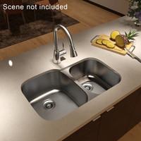 Kitchen sink with mixer