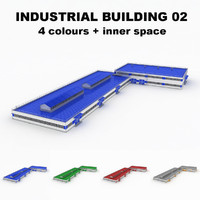 large industrial building 02 3d max