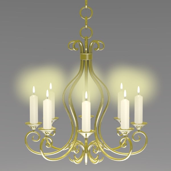 Old chandelier candles model 3d old chandelier candles model mozeypictures Choice Image
