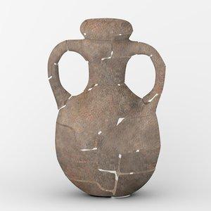 old broken vase 3d obj