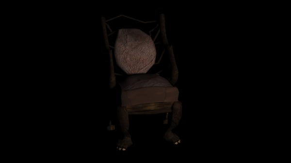 free old wooden chair 3d model