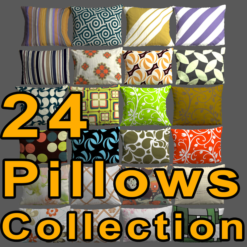 3d pillows seamless model