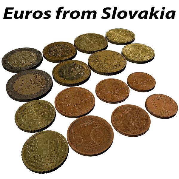 3d model of euro slovakia