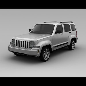3ds max jeep liberty 2008