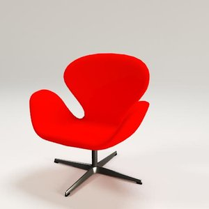 swan chair 3ds