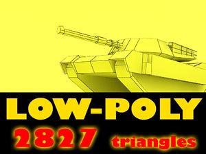 low-poly abrams m1 tank max