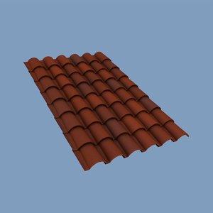 roofing tiles 3d model