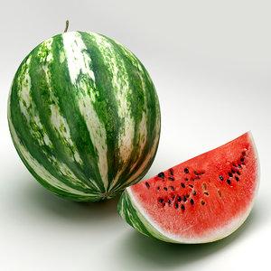 watermelon melon 3d 3ds