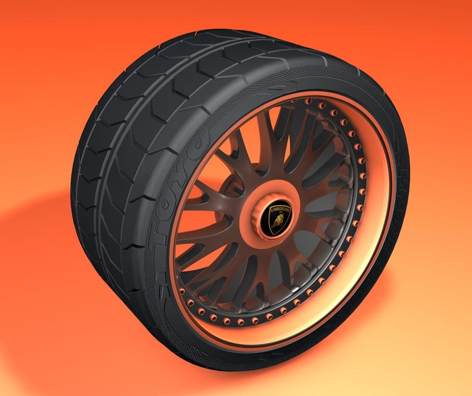 3d wheel tires