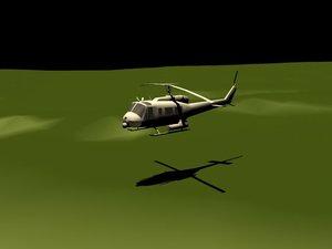 free uh-1 terrain 3d model