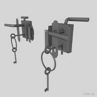 door lock mouse 3d model