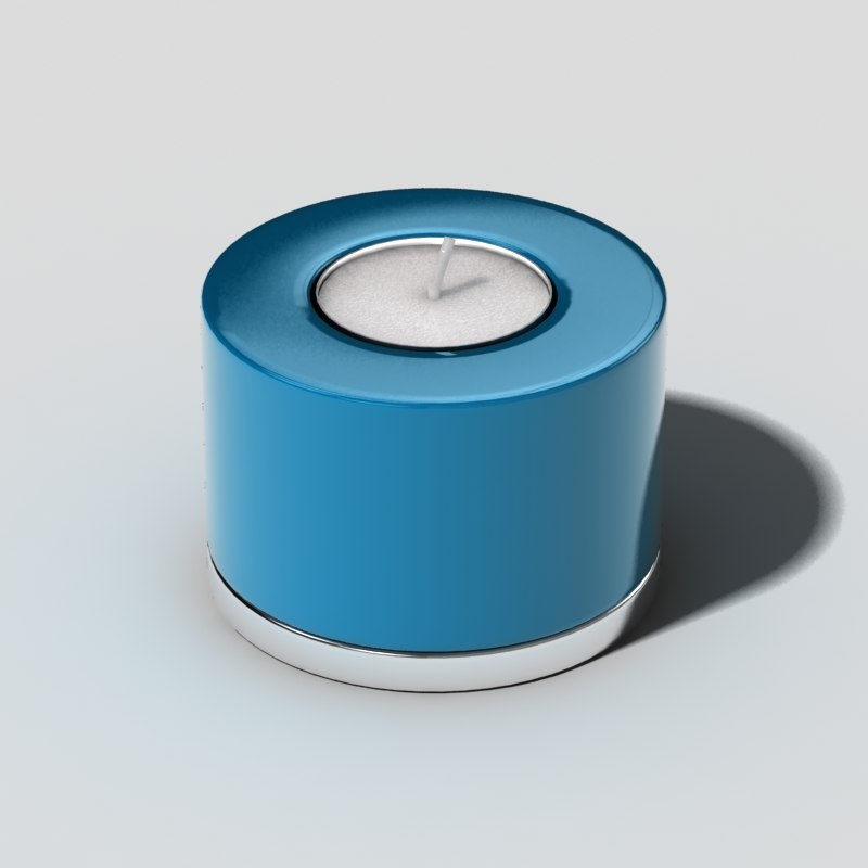 3d small candle