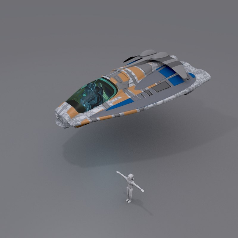 3ds max space vessel