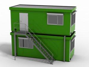 construction trailer 3ds