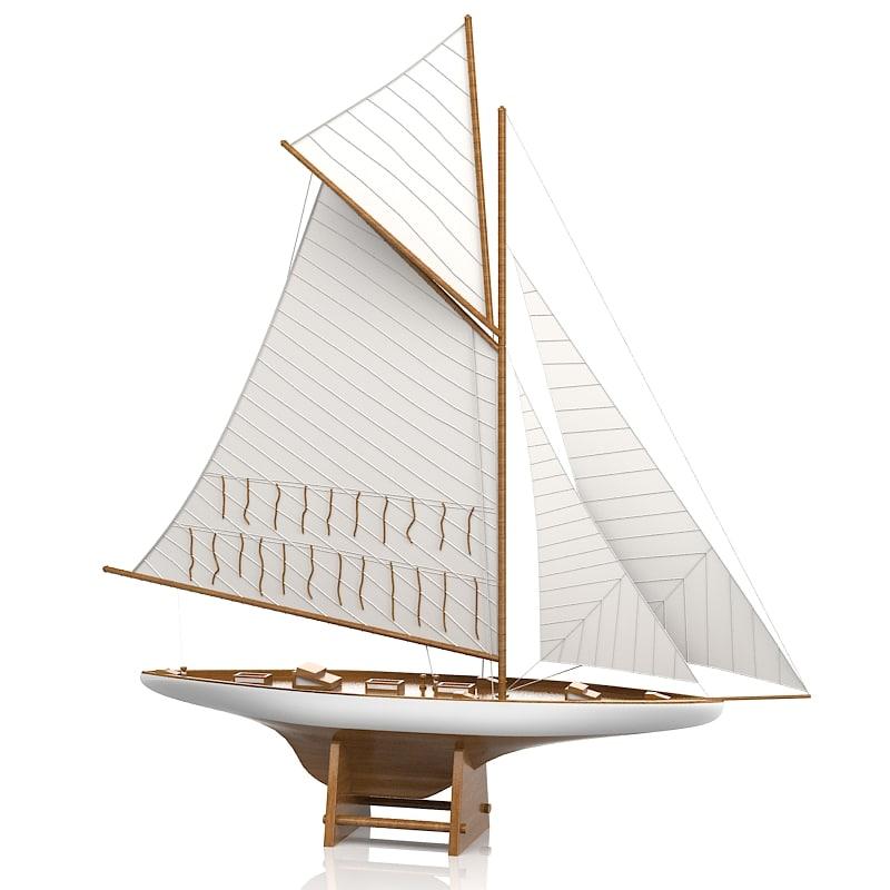 sailboat 7438 america's 3d fbx