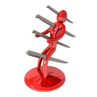 3d voodoo knife block model