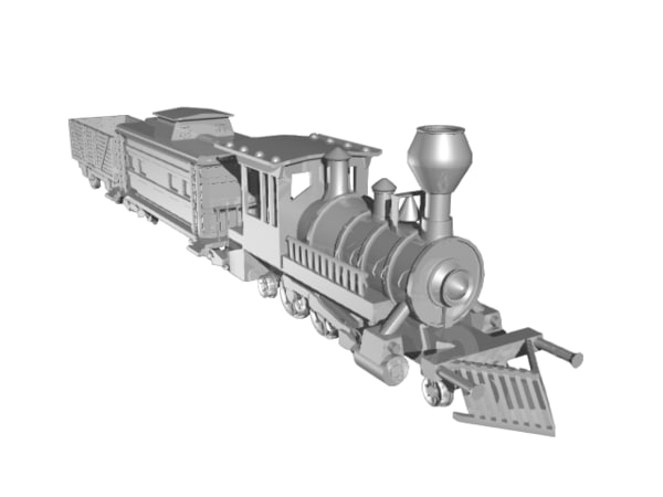 3d steam locomotive model