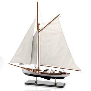 3d model of sailboat caroti 7491