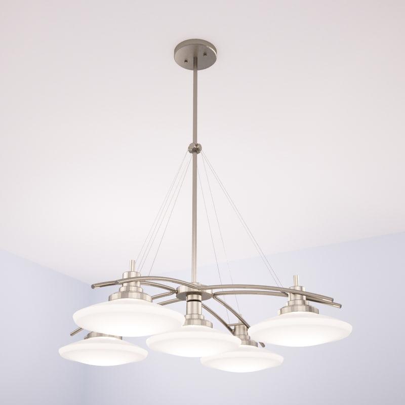 3d model of kichler structures chandelier light
