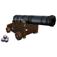 Cannon with cannonballs