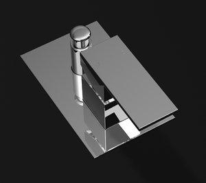 modern tap shower 3d model
