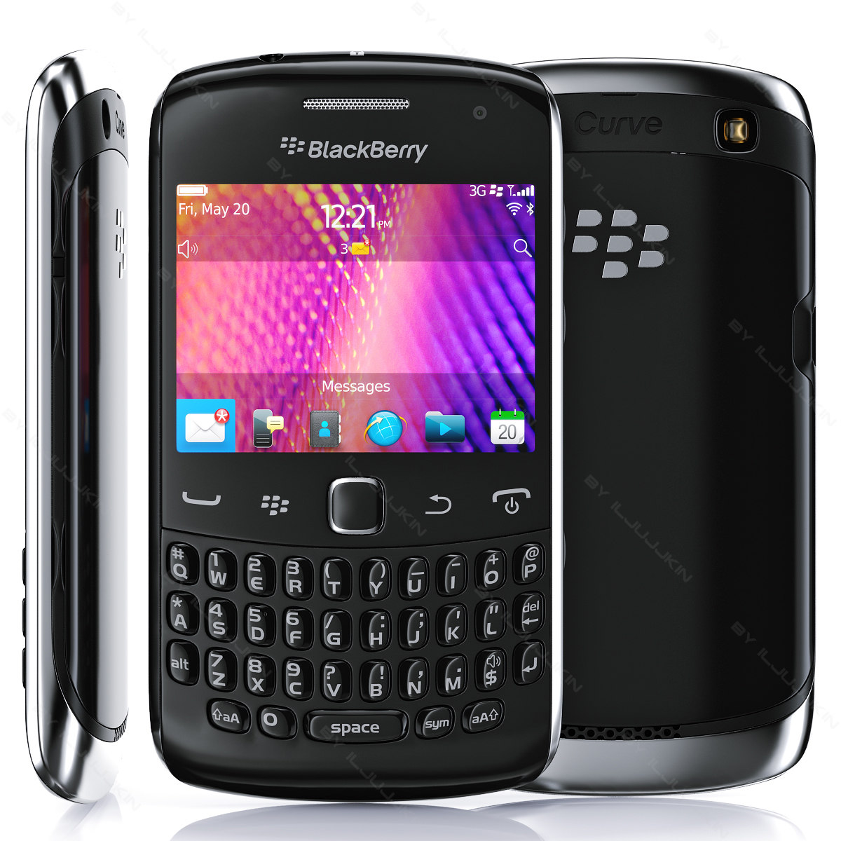 copy blackberry curve 9350 3d lwo