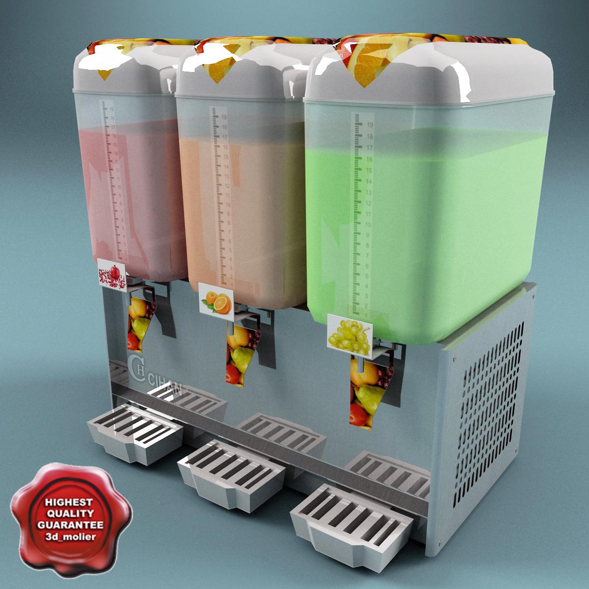 3d model cold drink dispenser v2