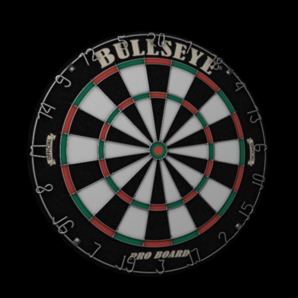 dart board 3d obj