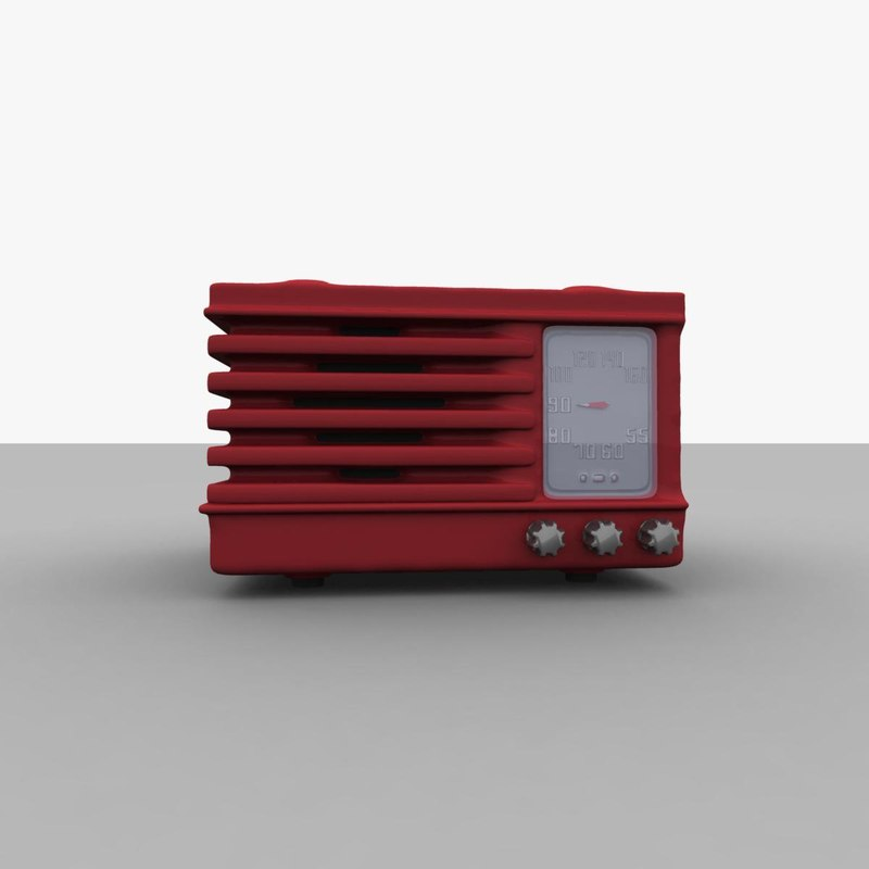 retro table radio 3ds free
