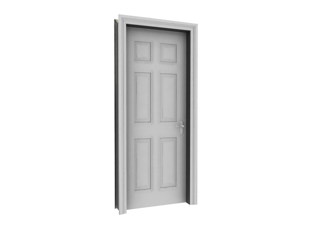 maya internal panelled door