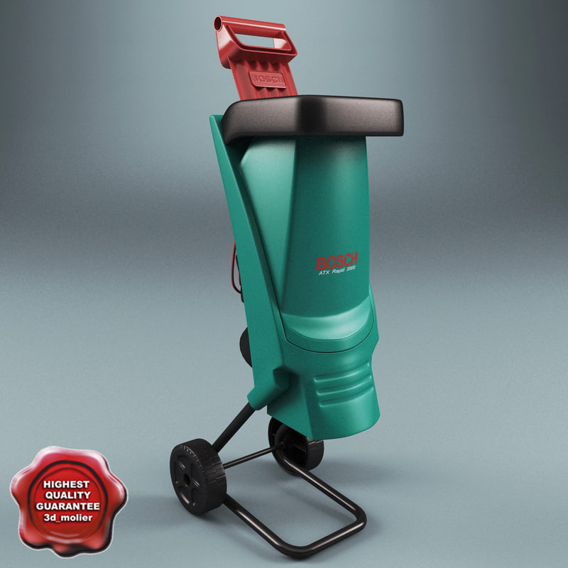 electric shredder bosch axt 3d model
