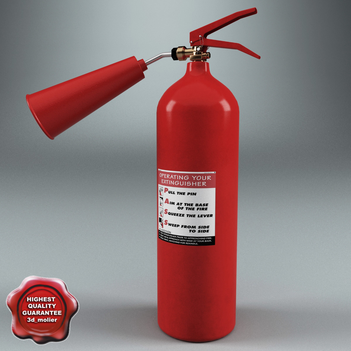 extinguisher v3 3d model