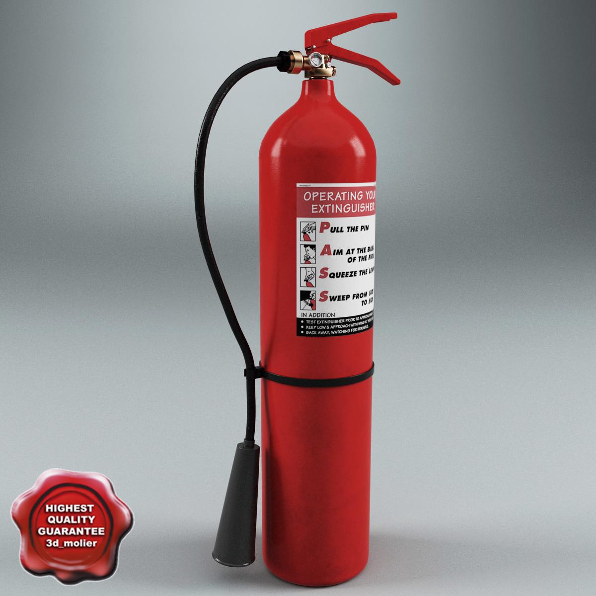 3d extinguisher v5 model