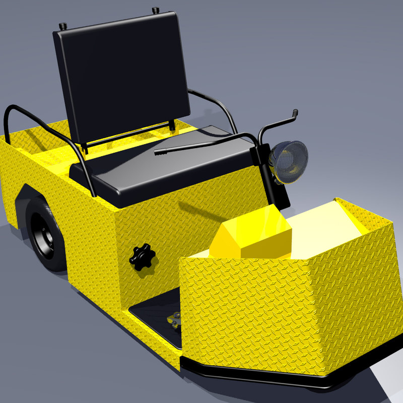3ds max industrial maintenance truck