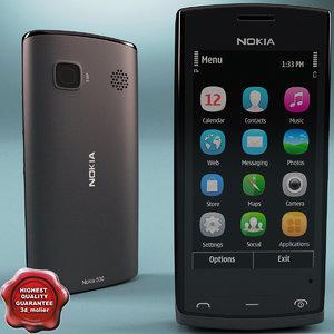 nokia 500 black 3d model