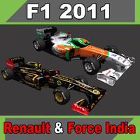 Force India VJM-04 and Renault R31