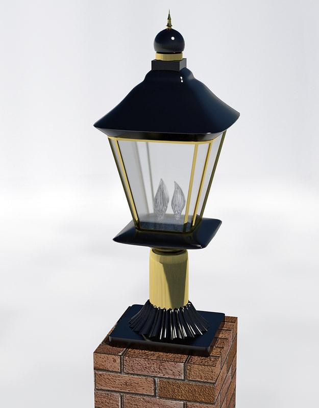 3dsmax outdoor lamp