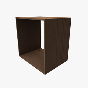 3ds max stackable cube shelving shelf