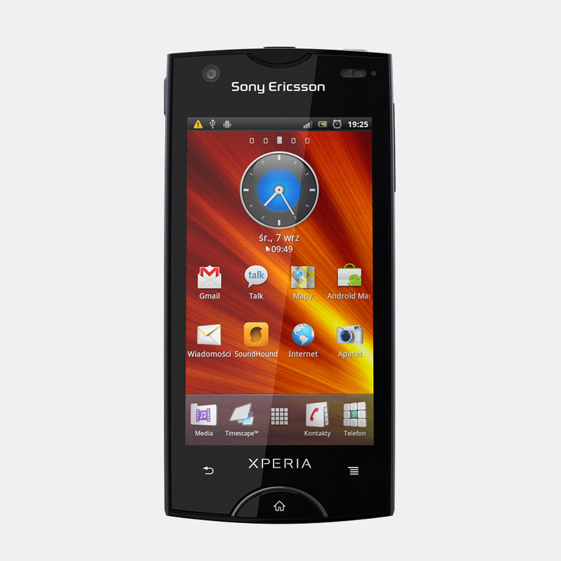 sony ericsson xperia mobile phone 3d max