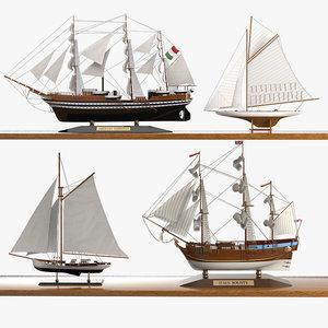 caroti sailboat ship 3d model