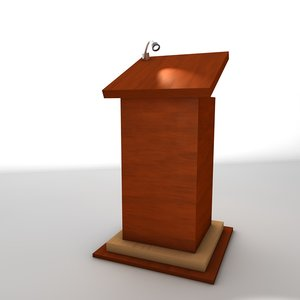 cinema4d original wooden lectern