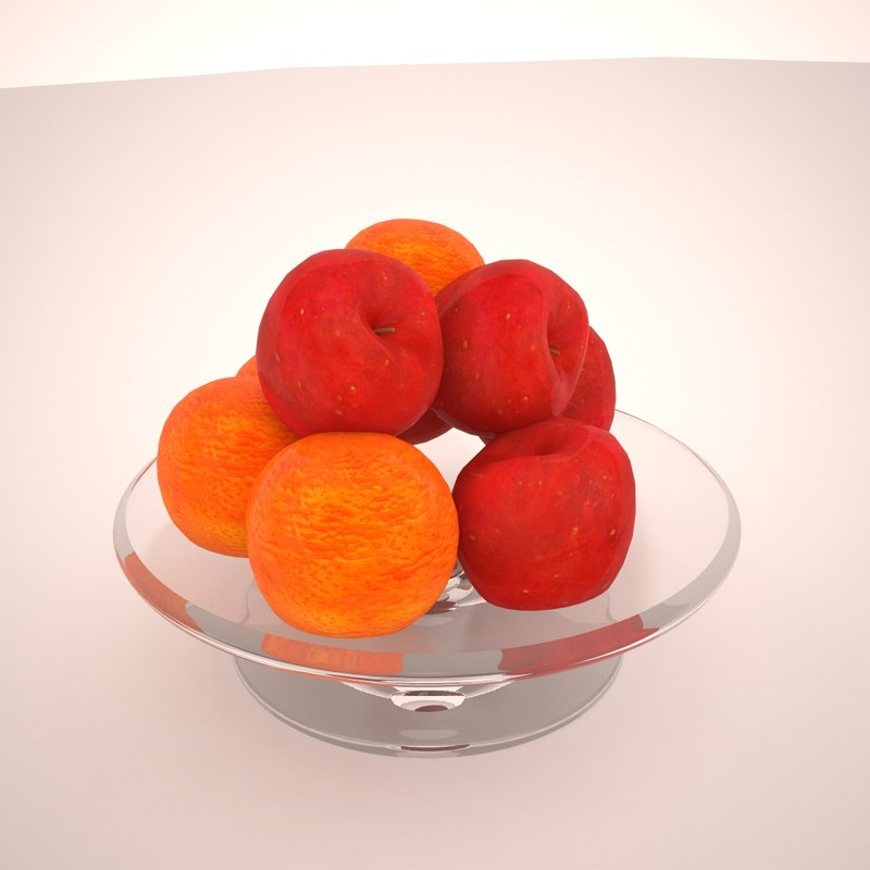 3d fruit tray apples