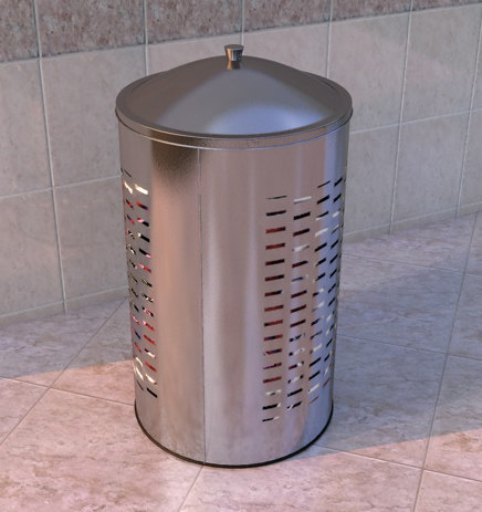 3d model laundry basket