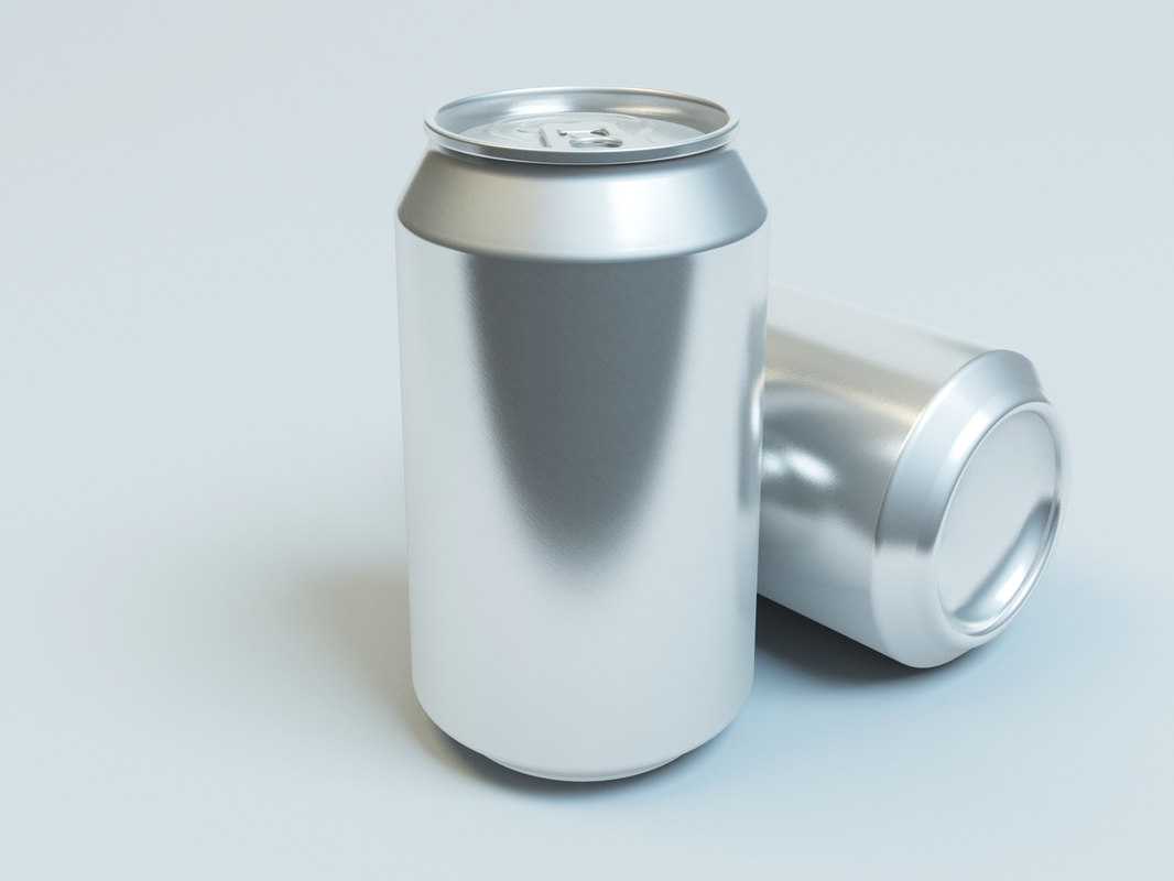 3dsmax aluminum soft drink