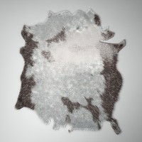 3d model hair fur carpet cow