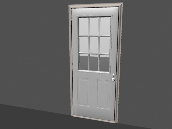 3ds max door hinges